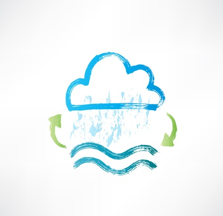 water cycle: Brush water cycle icon.