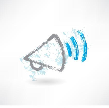 Cartoon shouting megaphone. Brush icon. Stockfoto