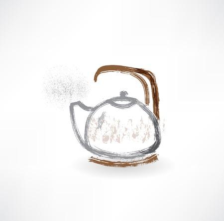 kettle grunge icon.
