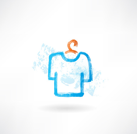 T-Shirt-Grunge-Ikone Standard-Bild - 25350761