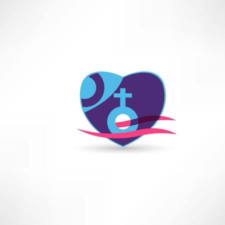 Venus sign icon