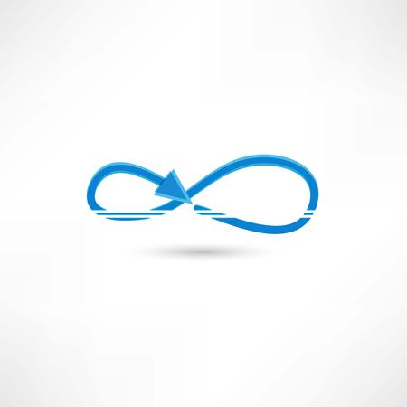 Two Infinity Symbols With Shadow Ideal Web Icon Stock Photo Picture