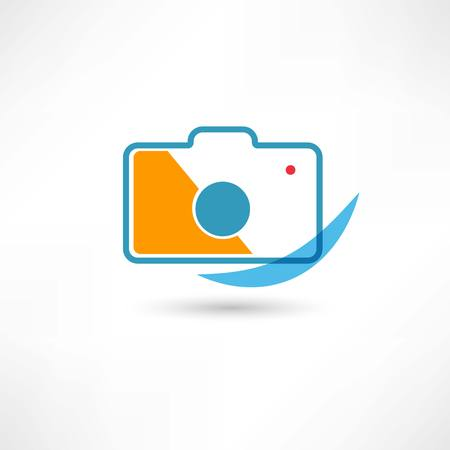 Digital cam line icon Stock Photo - 25350775