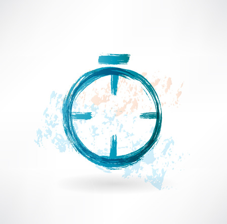 alarm clock grunge icon Stock Photo