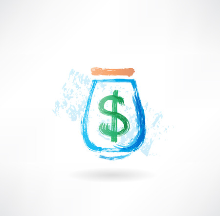 Money grunge icon Stock Photo