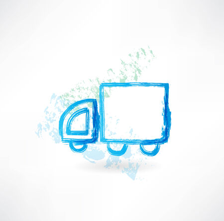 trucking grunge icon Stock Photo