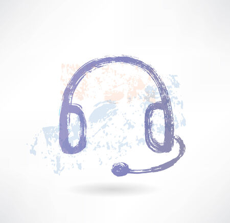 mp: Brush headphone icon.