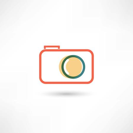 Red camera line icon Stock Photo - 25350967