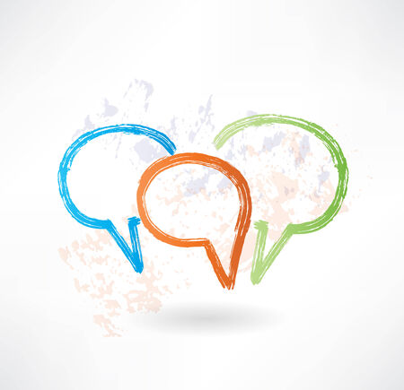viewpoints: Three coloured speech bubbles. Brush icon.