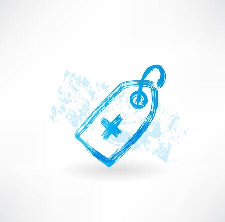medical grunge icon photo