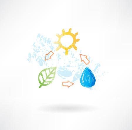 Watercyclus grunge pictogram
