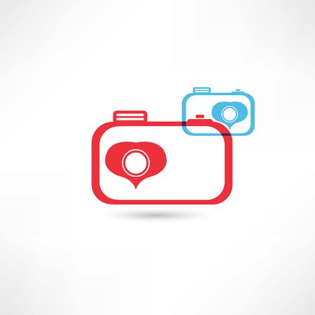 whim: Red and blue nice cameras icon