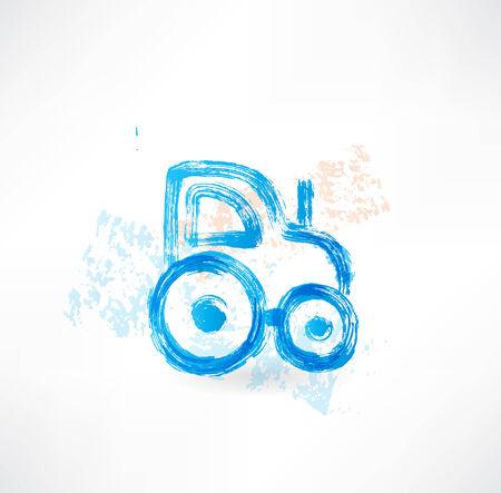 skid: tractor grunge icon