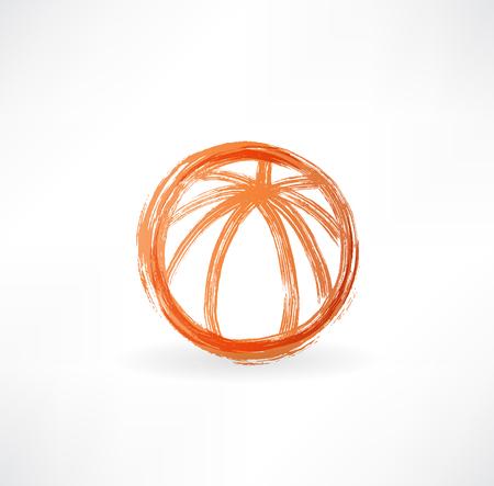 tourney: basketball ball grunge icon