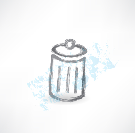 grille: garbage grunge icon.