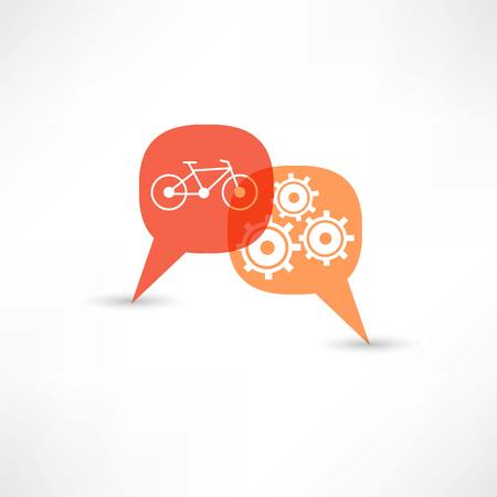 repair a bicycle Vectores