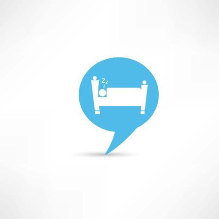 chat room: sleeping man in blue speech bubble
