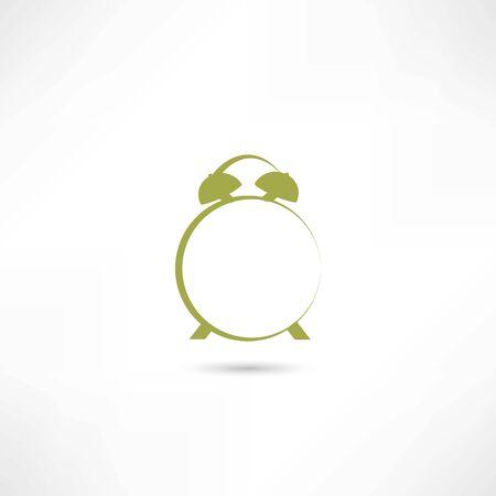 murmur: Line green alarm clock Illustration
