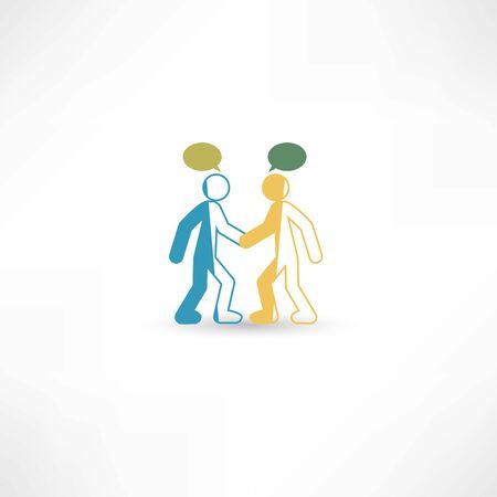 two men talking: two men talking Illustration