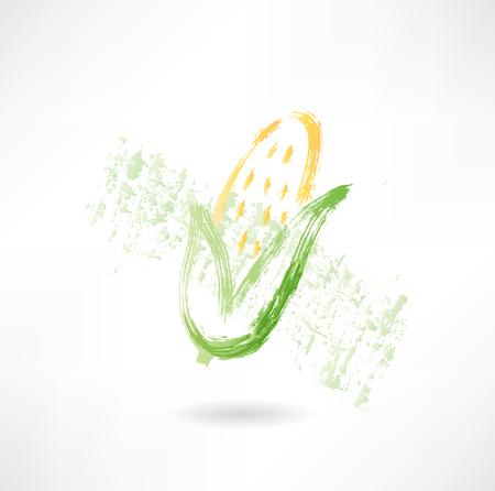Corn grunge icon Vector