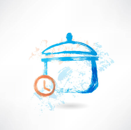 Pan time grunge icon Vector