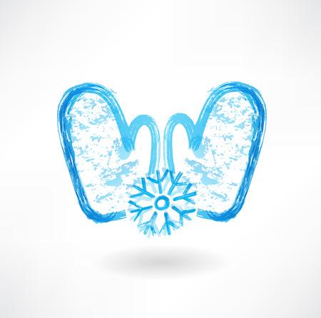 two mittens grunge icon