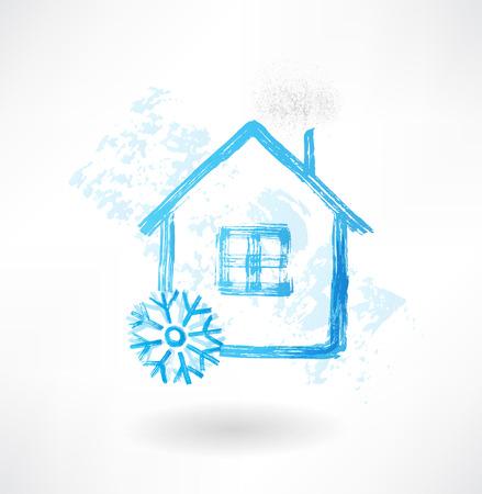 snow house grunge icon