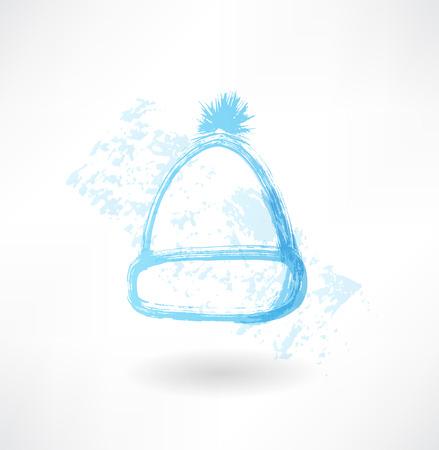 bowler hat: Winter hat grunge icon