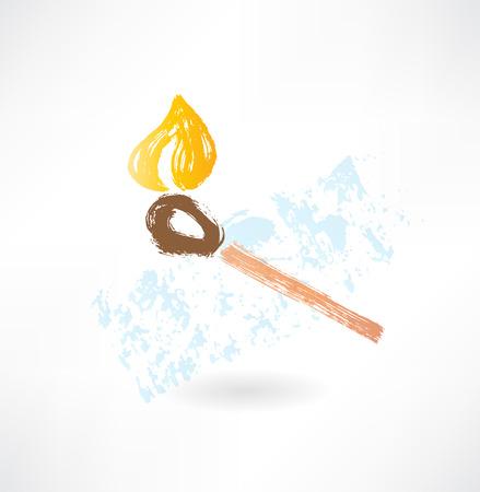 arson: match grunge icon Illustration