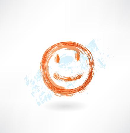 emote: Smile grunge icon
