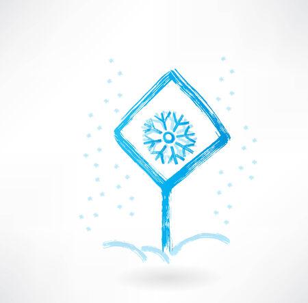 plate snhowflake grunge icon