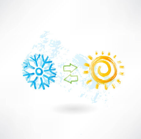 air conditioning: Climate control grunge icon Illustration