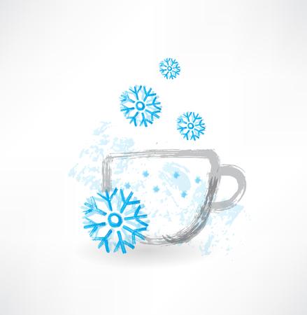 Winter Tasse Grunge Symbol