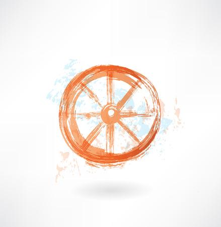 Wheel grunge icon