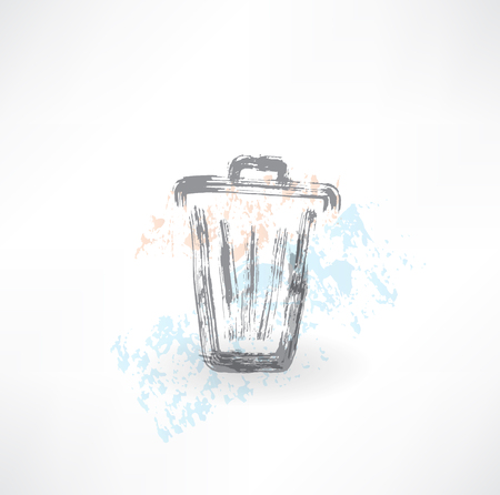 Bin grunge icon Stock Vector - 25632577
