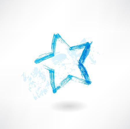 estrella azul: Icono del grunge de la estrella azul
