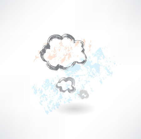 Cloud think grunge icon Stock Vector - 25632610