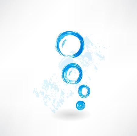 bubbles grunge icon