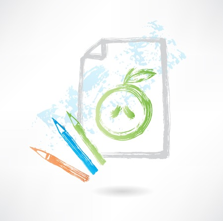 sweetened: drawing apple grunge icon