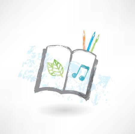 sketch book: Sketch book grunge icon Illustration