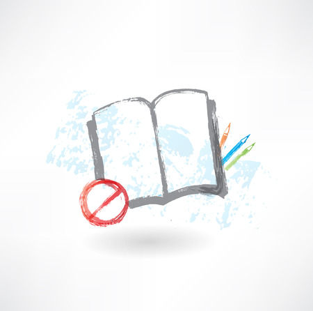 No book grunge icon Stock Vector - 25653380