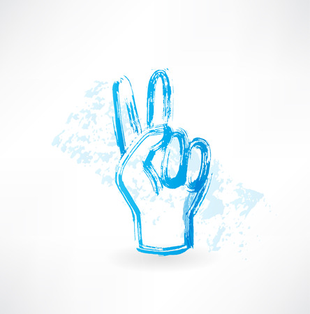 victory fingers grunge icon