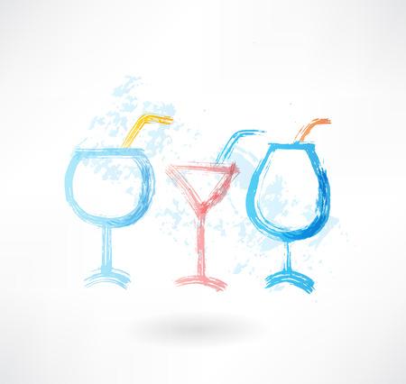 three cocktails grune icon