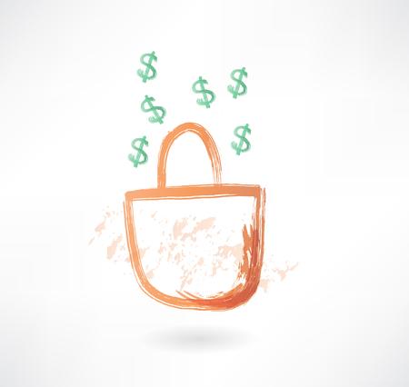 earnings: earnings grunge icon