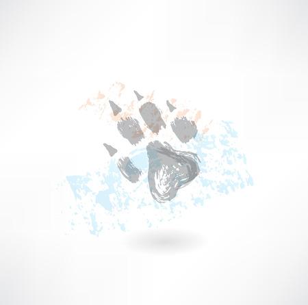 Animals footprint grunge icon Vector