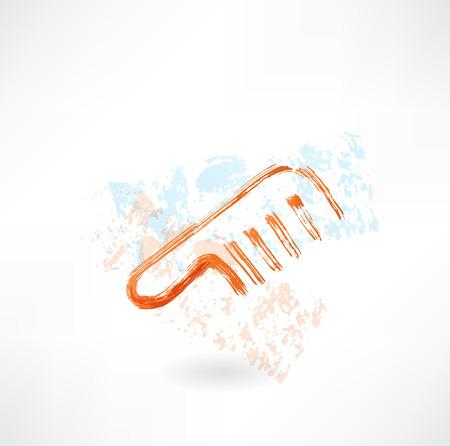 Comb grunge icon