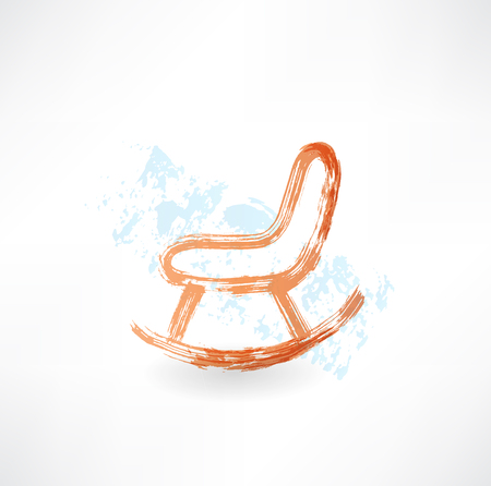 aside: rocking chair grunge icon