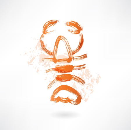 lobster grunge icon Vector