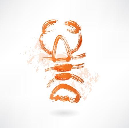 lobster grunge icon Illustration