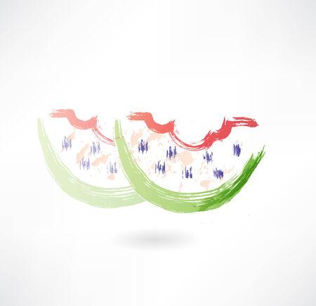 bitten: bitten watermelon grunge icon